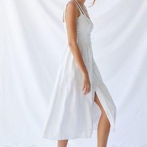 UO Size S Positano Tie-Shoulder Midi Dress